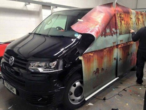 rusted car wrap