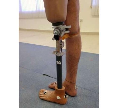 inexpensive prosthetic leg with bending knee