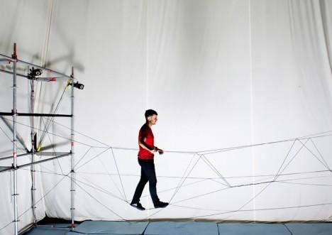 drone walking bridge design