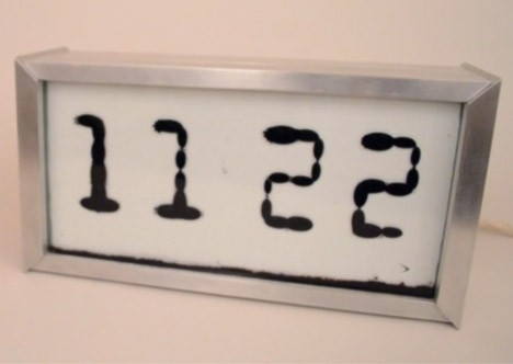 ferrofluidic display clock
