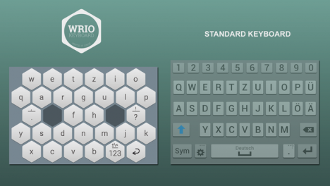 honeycomb keyboard wrio