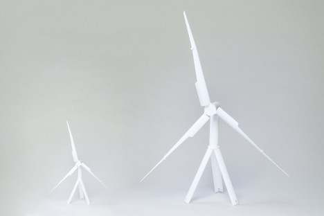mobile wind turbine setup