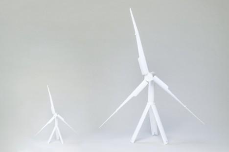 mobile wind turbine setup