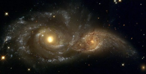 orbiting black holes