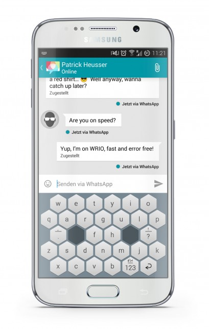 wrio redesigned mobile phone keypad