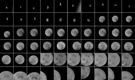 nasa moon shots