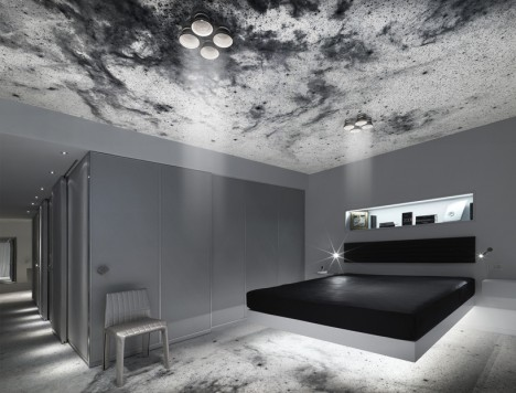 space hotel floating bed