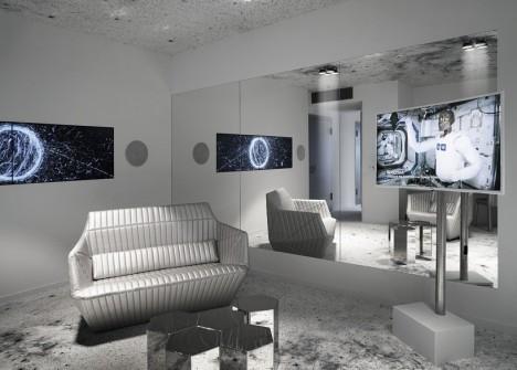 space hotel interior