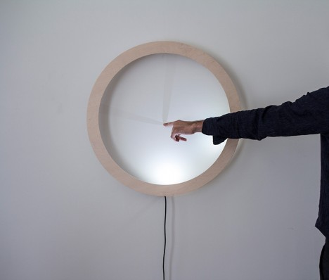 touch activated wall clock