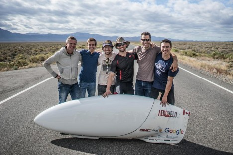 aerovelo human powered speed record