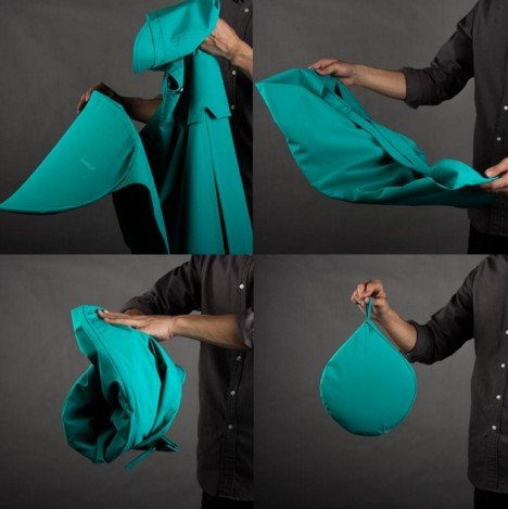 poncho folding process