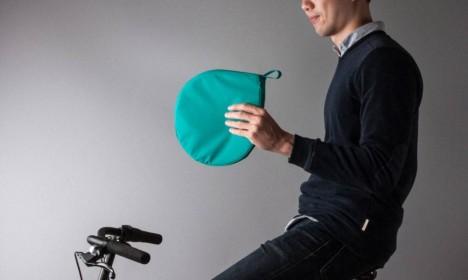portable compact cyclist poncho
