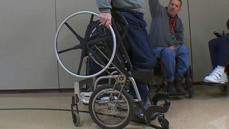 stand up wheelchair rolling
