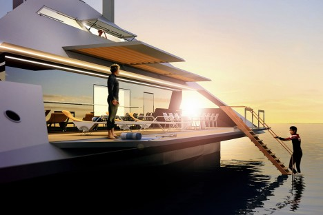 futuristic luxury yacht design
