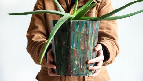 diy recycled planter