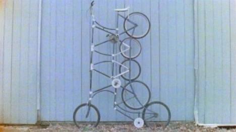 tall stacked weird bike