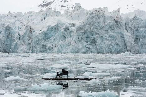 greenpeace glacier art