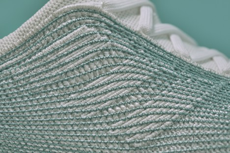 shoe fiber closeup