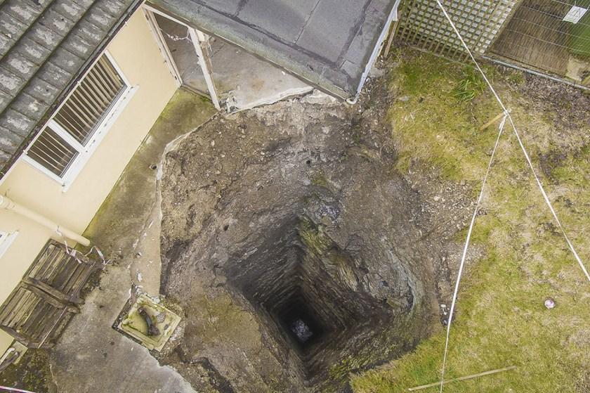 Sudden Sinkhole 300 Foot Mine Shaft Opens In Man S