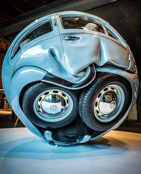 Fans Of The Clic Volkswagen Beetle Will Be Amazed Or Disturbed To See Their Favorite Vehicle Squished Like A Bug