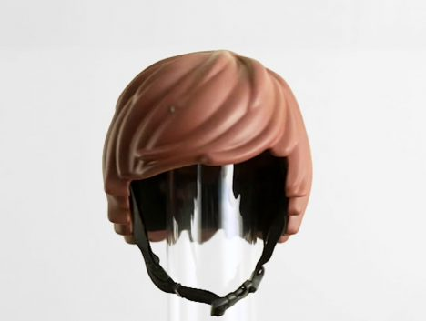 Helmet Hair Lego Figure Style Bike Cap For Human Riders Gadgets Science Technology